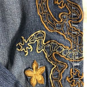 Jeans - Dragon Embroidered Denim Jeans
